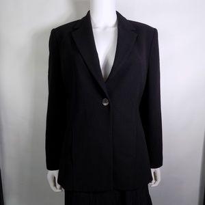 Talbots 100% Wool Black Blazer